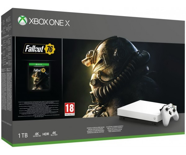 Microsoft Xbox One X Robot White Special Edition 1Tb + Fallout 76(код)