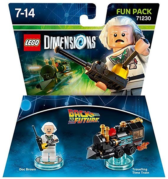 LEGO Dimensions Fun Pack - Back to the Future (Doc Brown and Traveling Time Train) Назад в будущее | LEGO Измерения