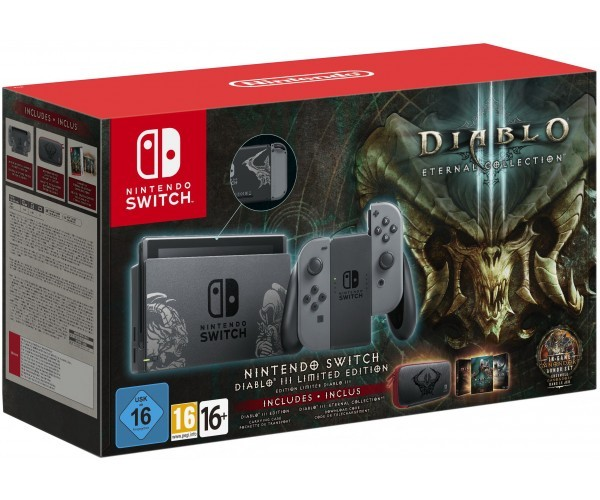 Nintendo Switch Diablo III Limited Edition + Чехол Diablo III + Игра Diablo III: Eternal Collection