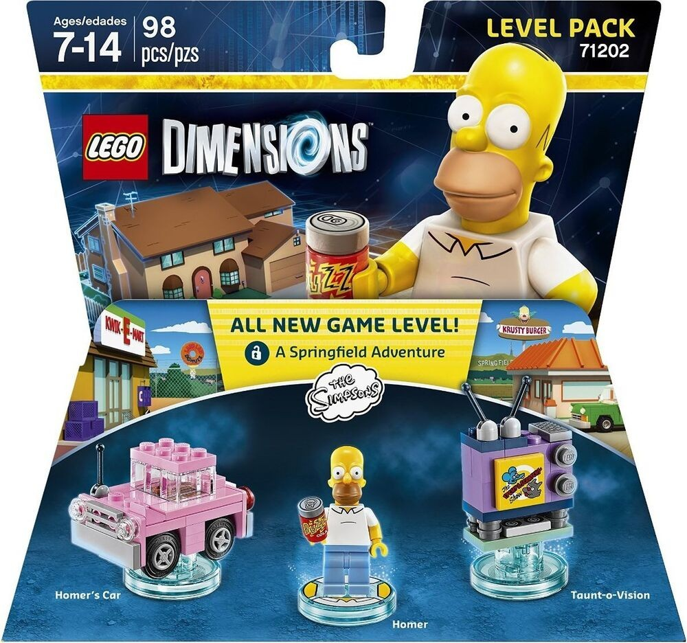 LEGO Dimensions Level Pack - The Simpsons (Homer's Car, Homer, Taunt-o-Vision) | LEGO Измерения