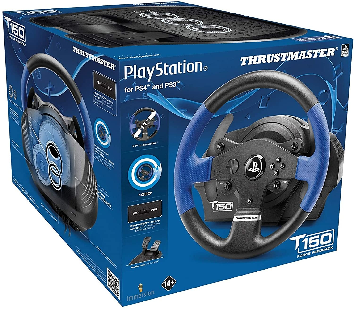 Кермо Thrustmaster T150 Racing Wheel PS3/PS4 Black