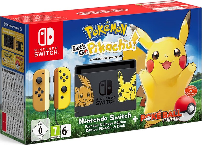 Ігрова консоль Nintendo Switch (жовтий/бежевий) + Poké Ball Plus + Pokemon: Let's Go, Pikachu!