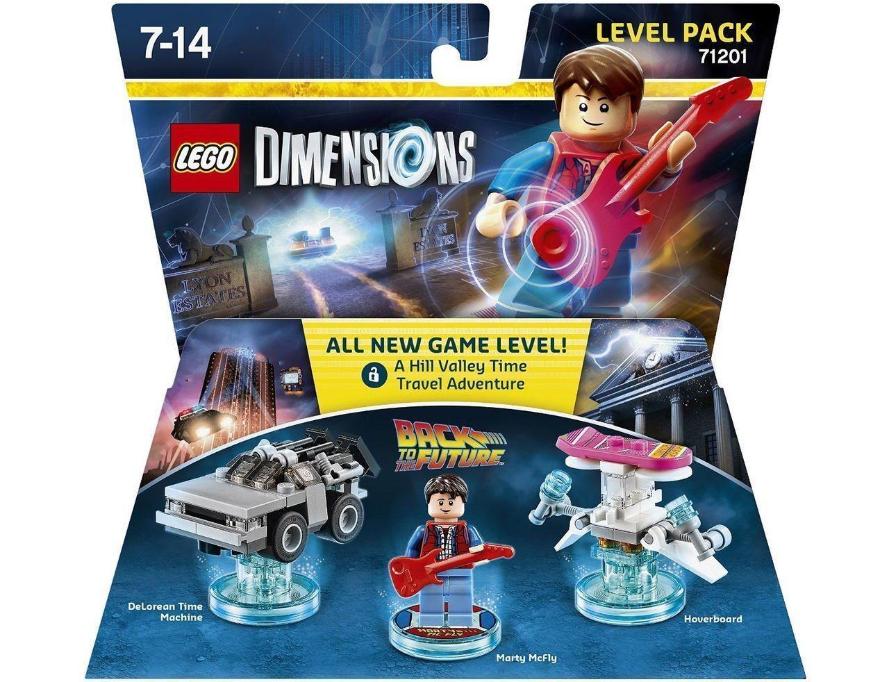 LEGO Dimensions Level Pack - Back to the Future (DeLorean Time Machine, Marty McFly, Hoverboard) | LEGO Измерения