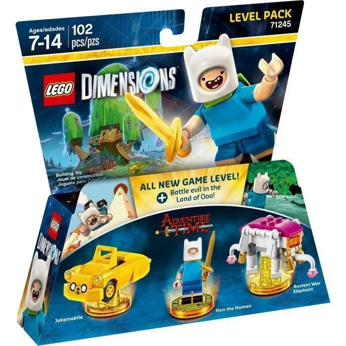 LEGO Dimensions Level Pack - Adventure Time (Jakemobile, Finn The Human, Ancient War Elephant)