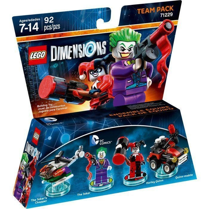 LEGO Dimensions Team Pack - DC Comics (The Joker's Chopper, The Joker, Harley Quinn, Quinn-Mobile)
