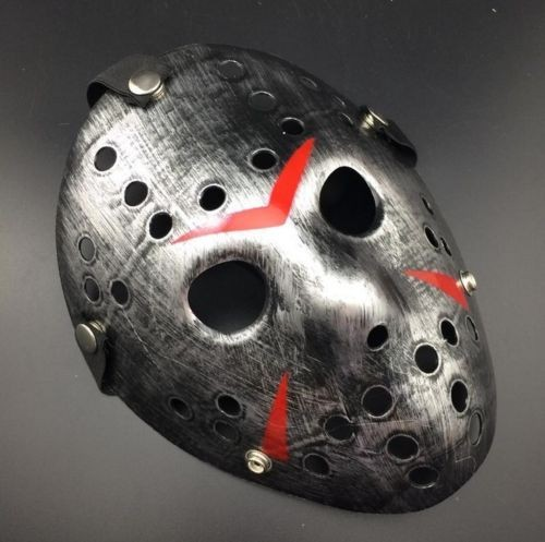 Halloween Party Mask Jason Voorhees Friday costumes Horror Movie Cosplay Hockey retro-silver (Маска Джейсон для Хелоуiна, Косплея)