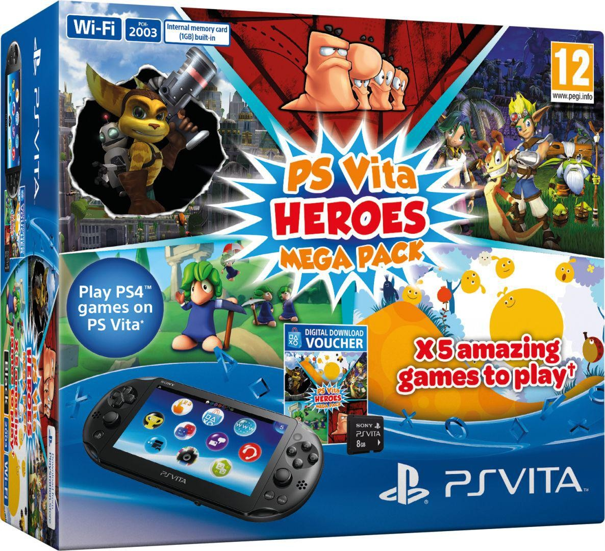 Комплект PS Vita Heroes Mega Pack + карта памяти 8 GB
