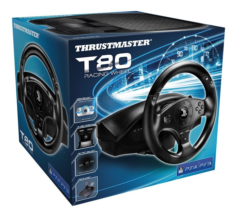 Руль Thrustmaster T80 Racing Wheel PS3/PS4 Black